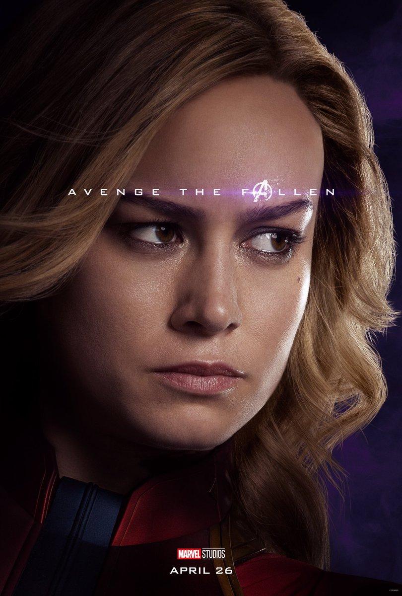 Avengers: Endgame: il character poster di Captain Marvel
