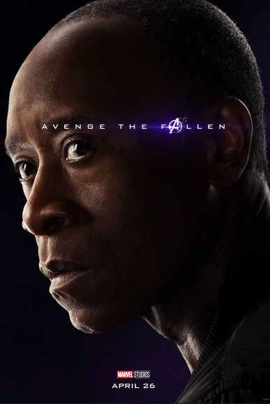 Avengers: Endgame, il character poster doi Don Cheadle