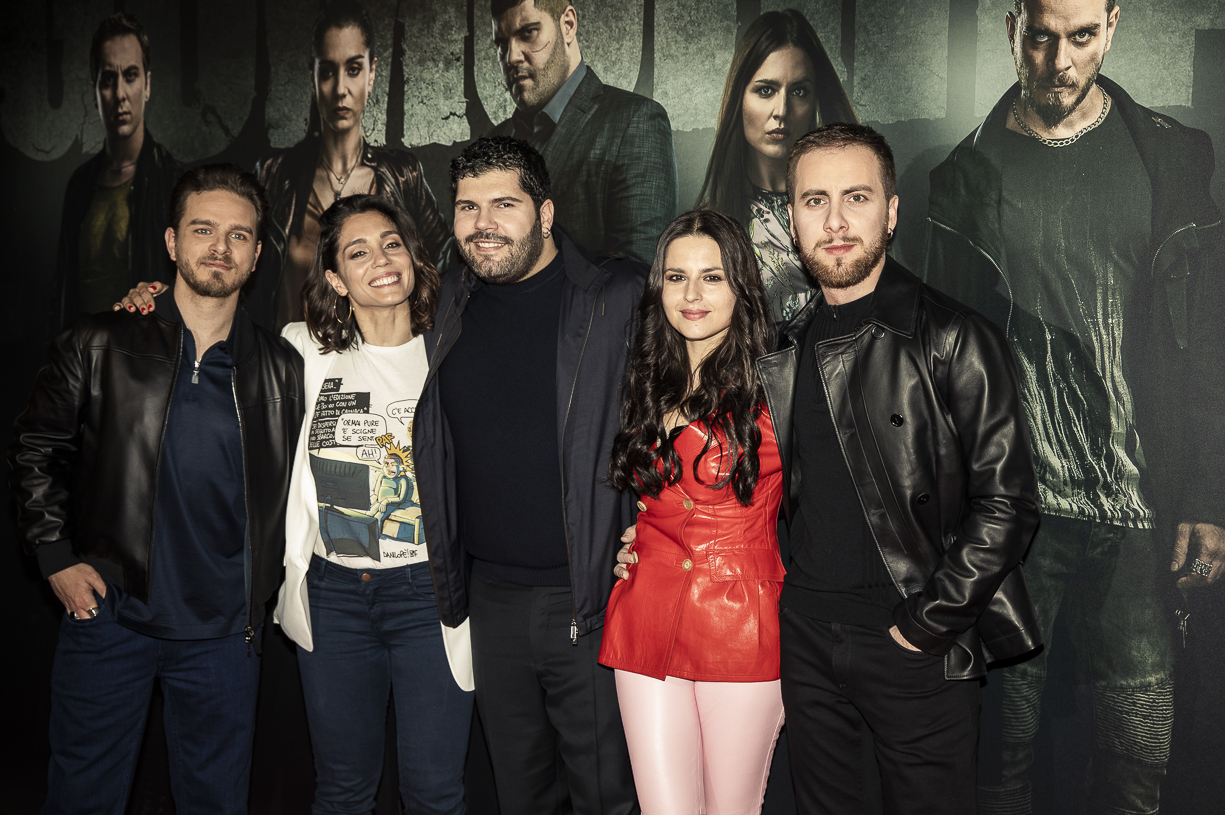Gomorra: Arturo Muselli, Cristiana Dell'Anna, Salvatore Esposito, Ivana Lotito e Loris De Luna