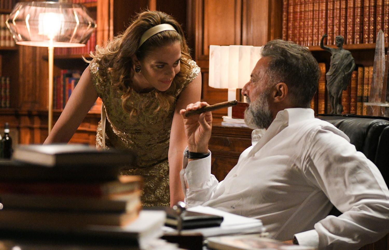 Dolceroma: Claudia Gerini e Luca Barbareschi in una scena del film