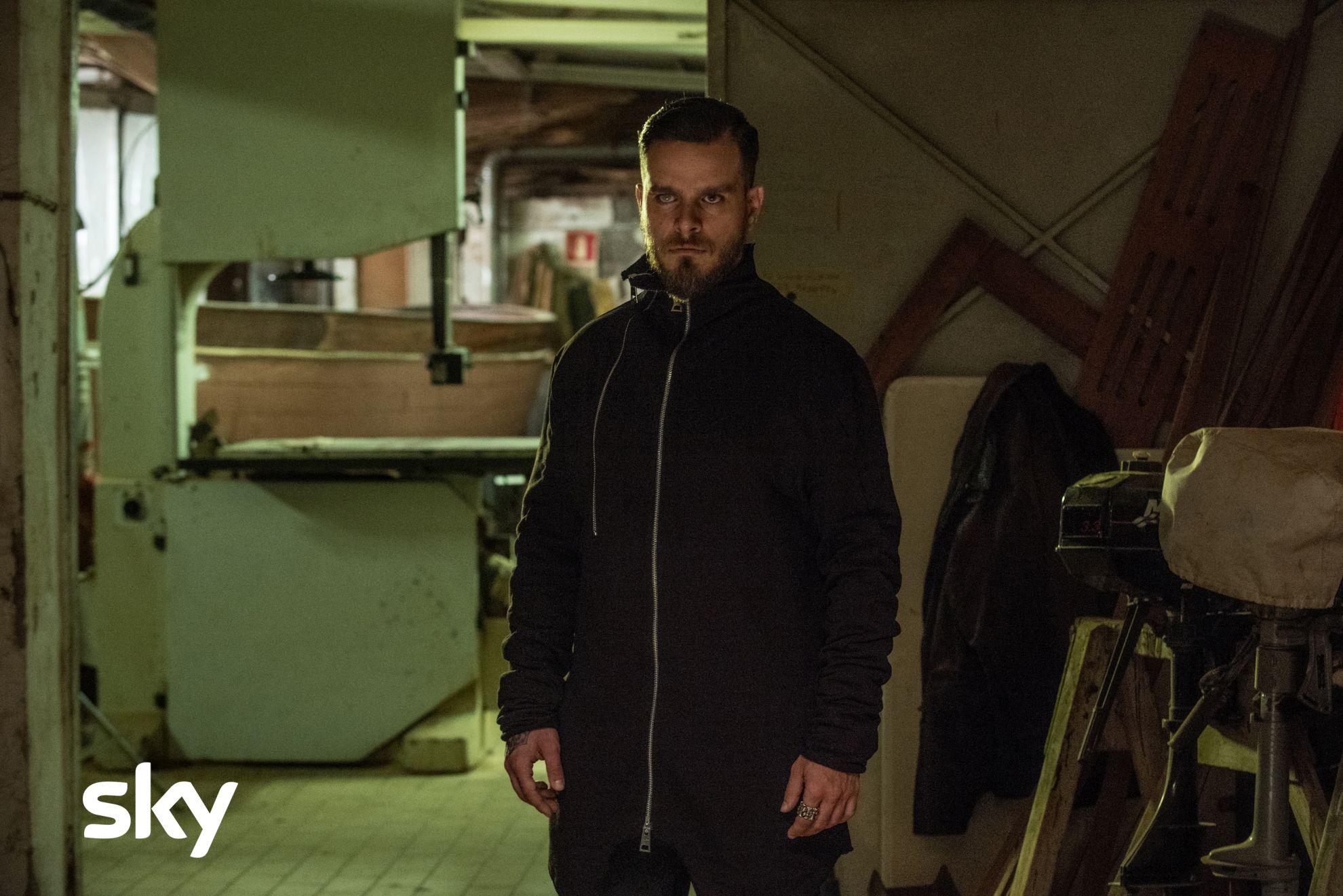 Gomorra: Arturo Muselli durante una scena del primo episodio della quarta stagione