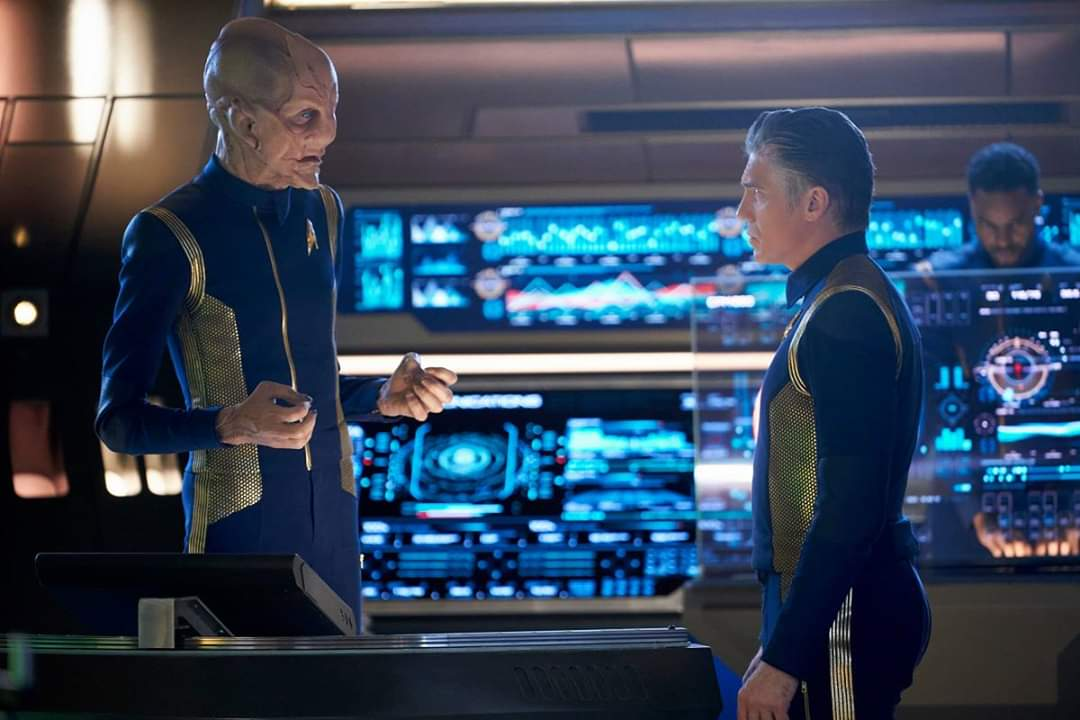 Star Trek Discovery: Doug Jones e Anson Mount nell'episodio Perpetua Infinità