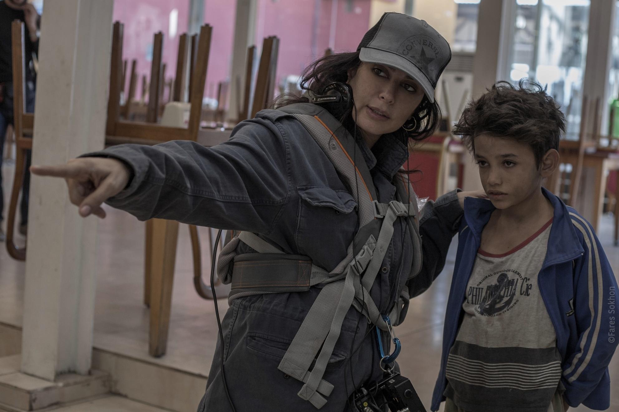 Cafarnao - Caos e miracoli: Zain Al Rafeea e Nadine Labaki sul set