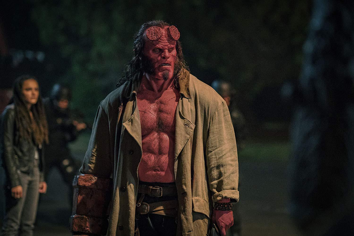 Hellboy: David Harbour durante una scena del film