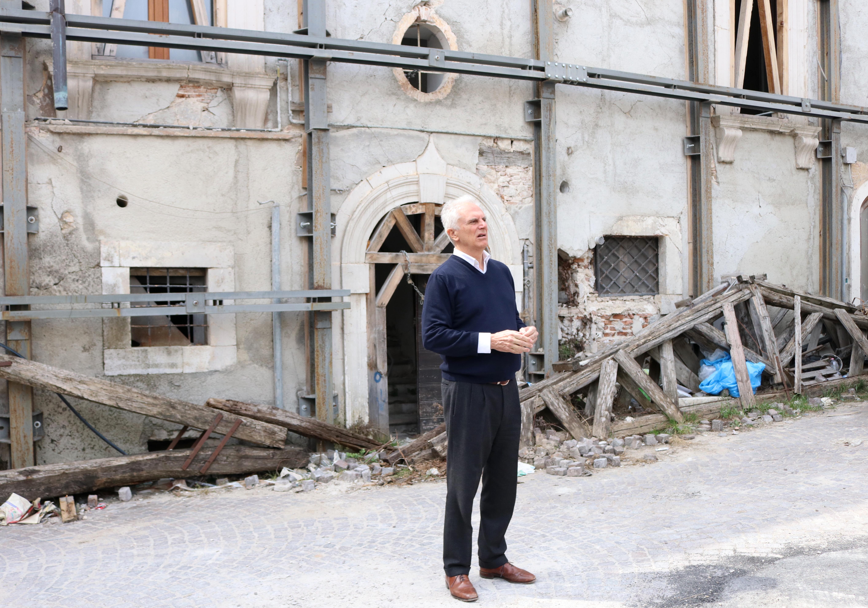 L'Aquila Grandi speranze: Marco Risi in visita sui luoghi della fiction