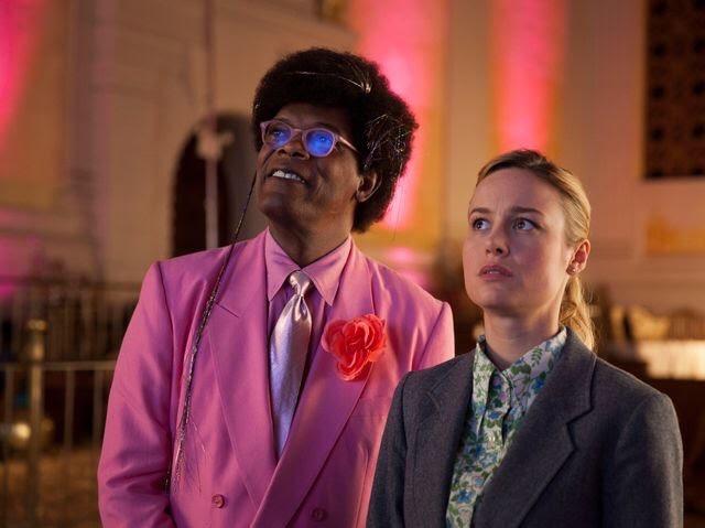 Unicorn Store: Samuel L. Jackson, Brie Larson in una scena