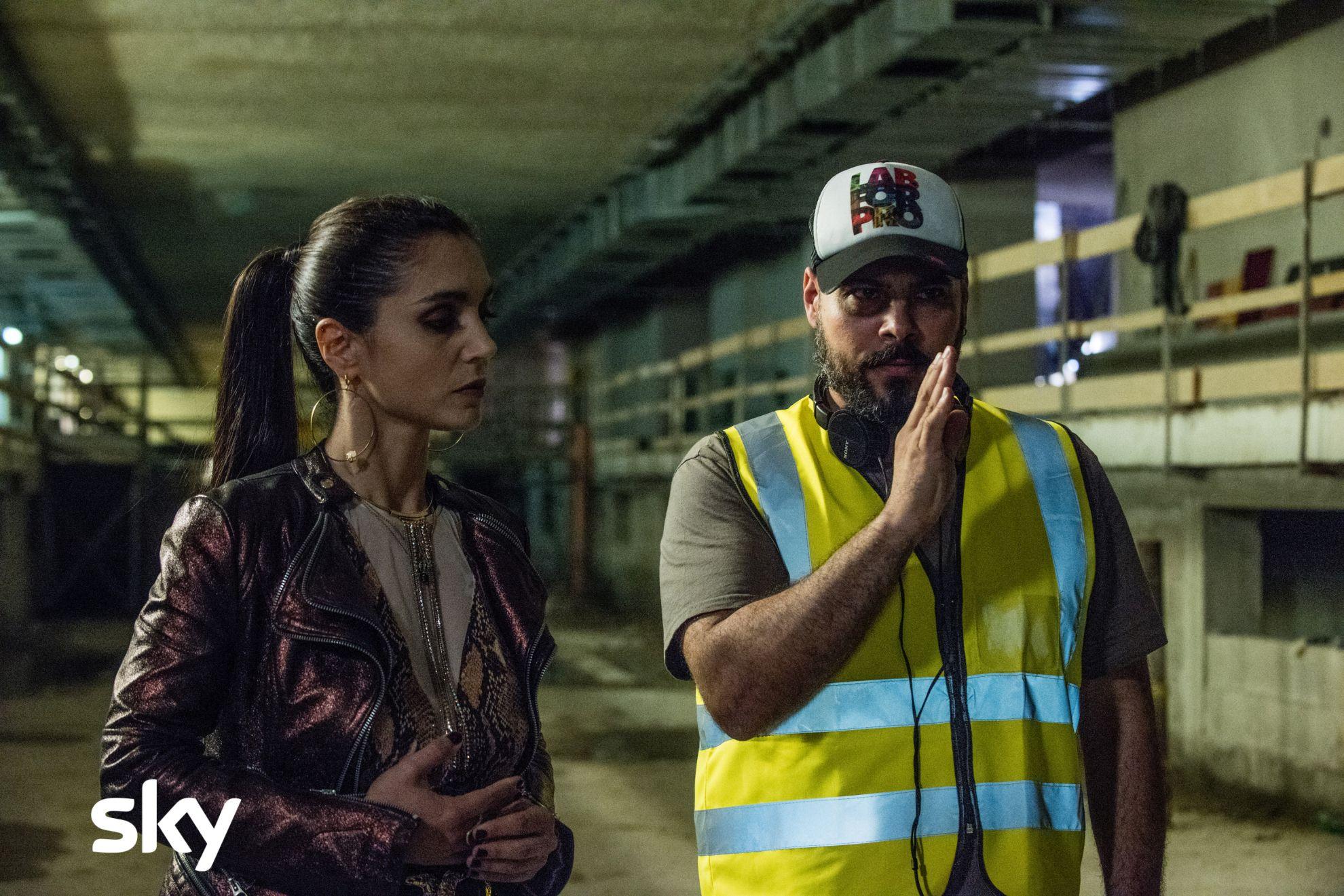 Gomorra - La Serie: Marco D'Amore e Cristiana Dell'Anna sul set del quinto episodio della quarta stagione