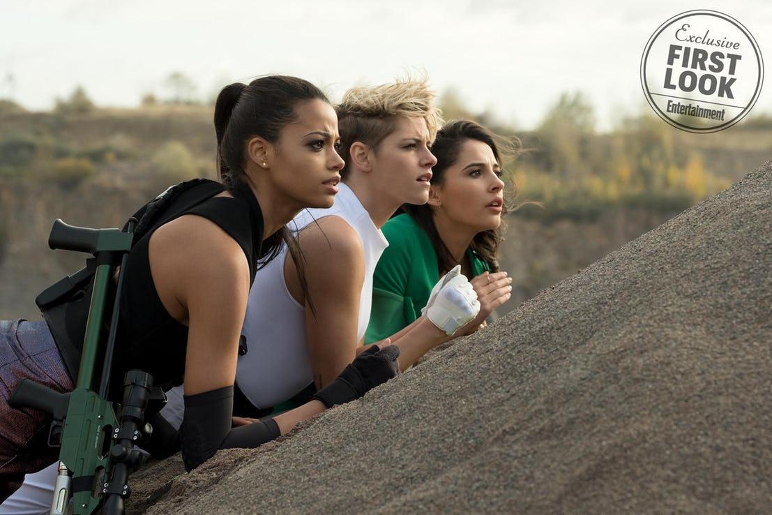 Charlie's Angels:Kristen Stewart, Naomi Scott ed Ella Balinska in azione