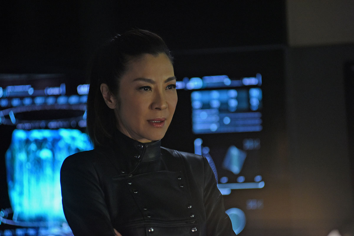 Star Trek: Discovery,  Michelle Yeoh in una scena dell'episodio Such Sweet Sorrow