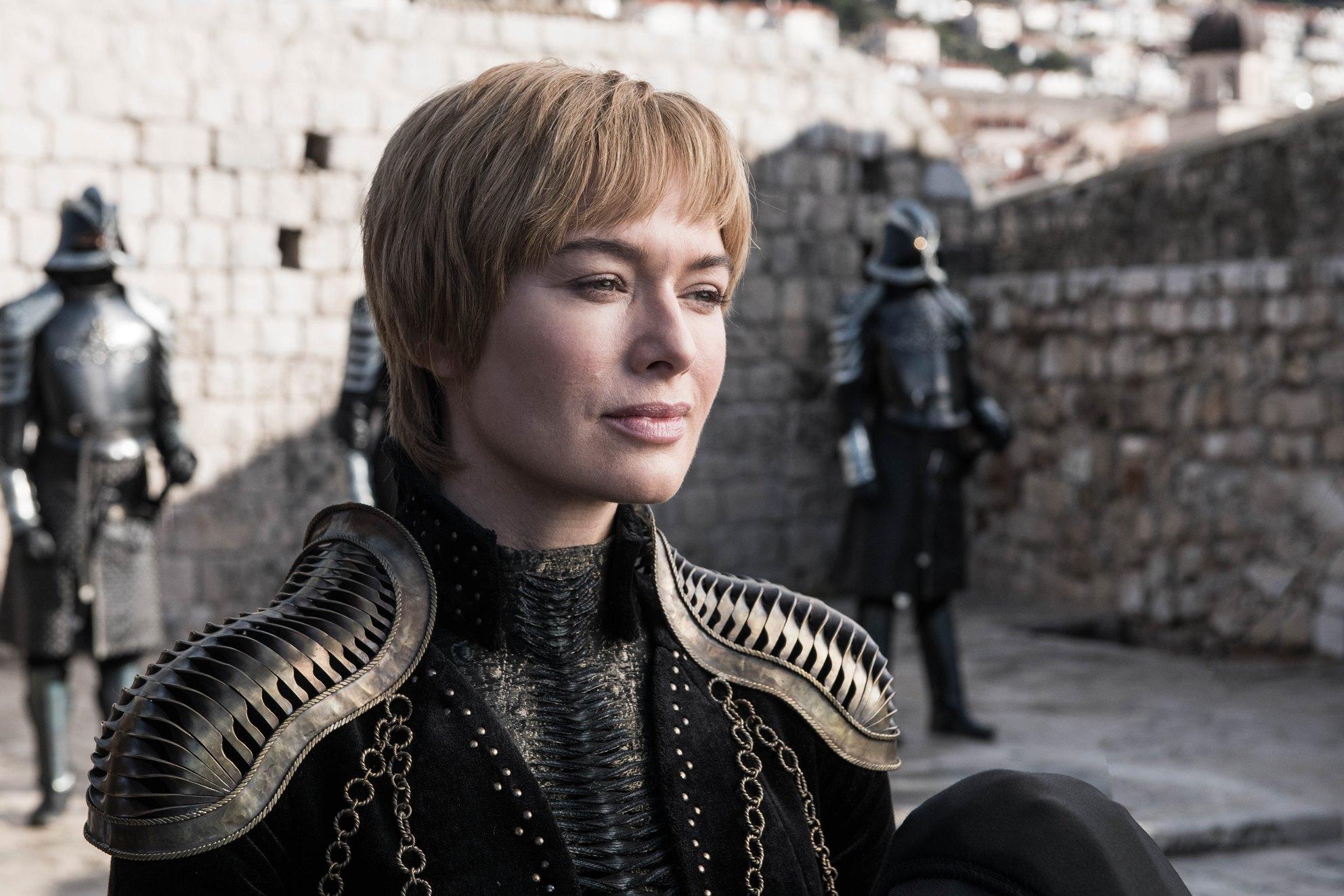 Il trono di spade: Lena Headey in una scena dell'episodio Winterfell
