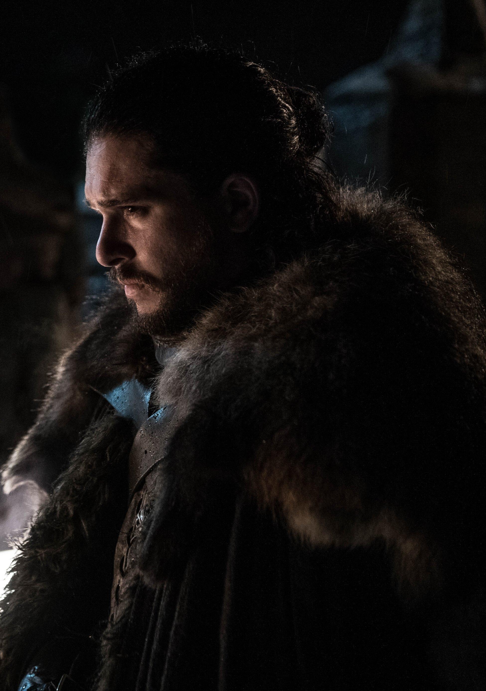 Il trono di spade: Kit Harington in una scena della ottava stagione