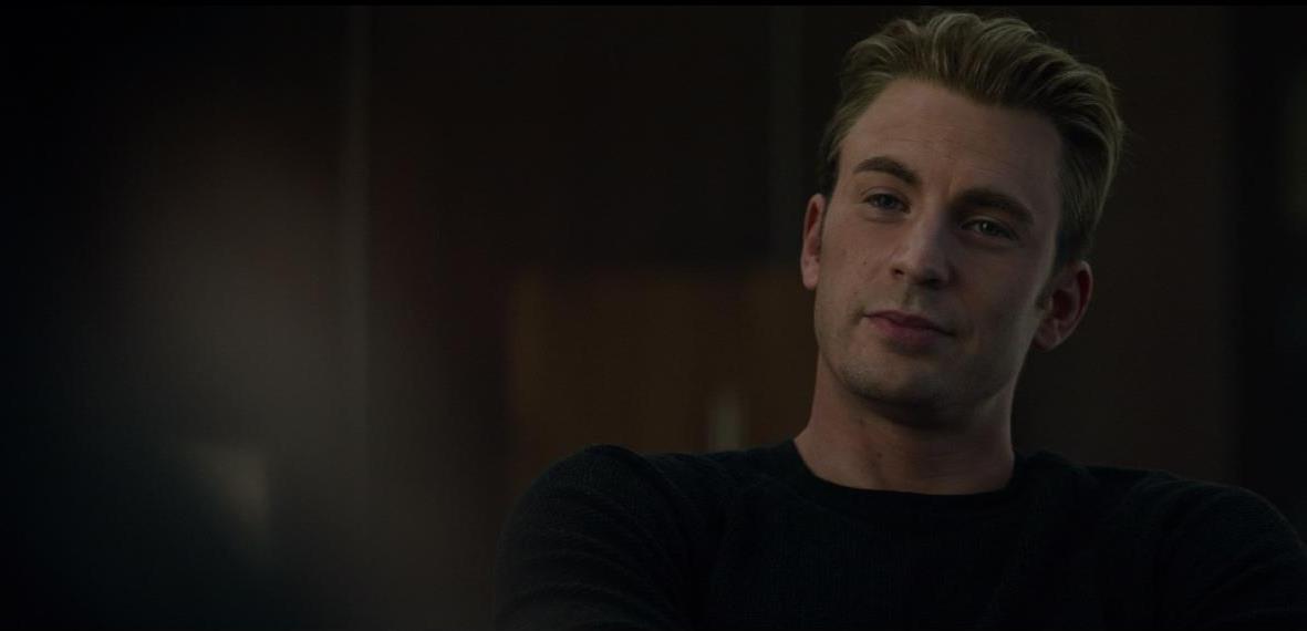 Avengers: Endgame, un momento del film con Chris Evans