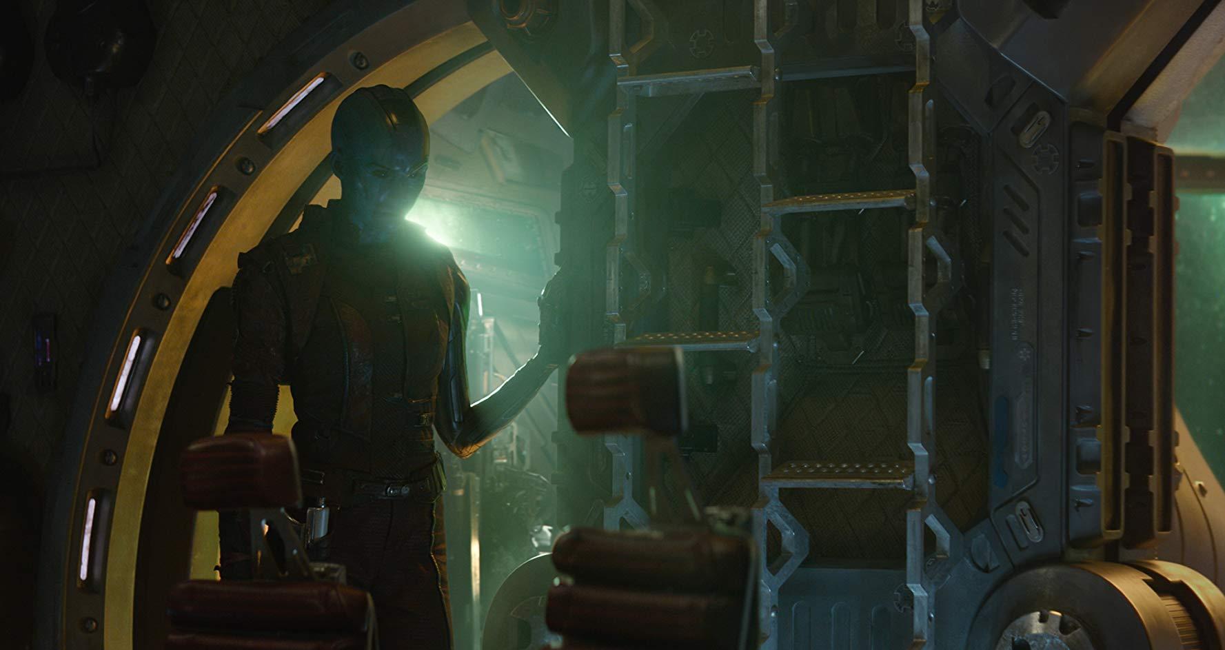 Avengers: Endgame, una scena con Karen Gillan