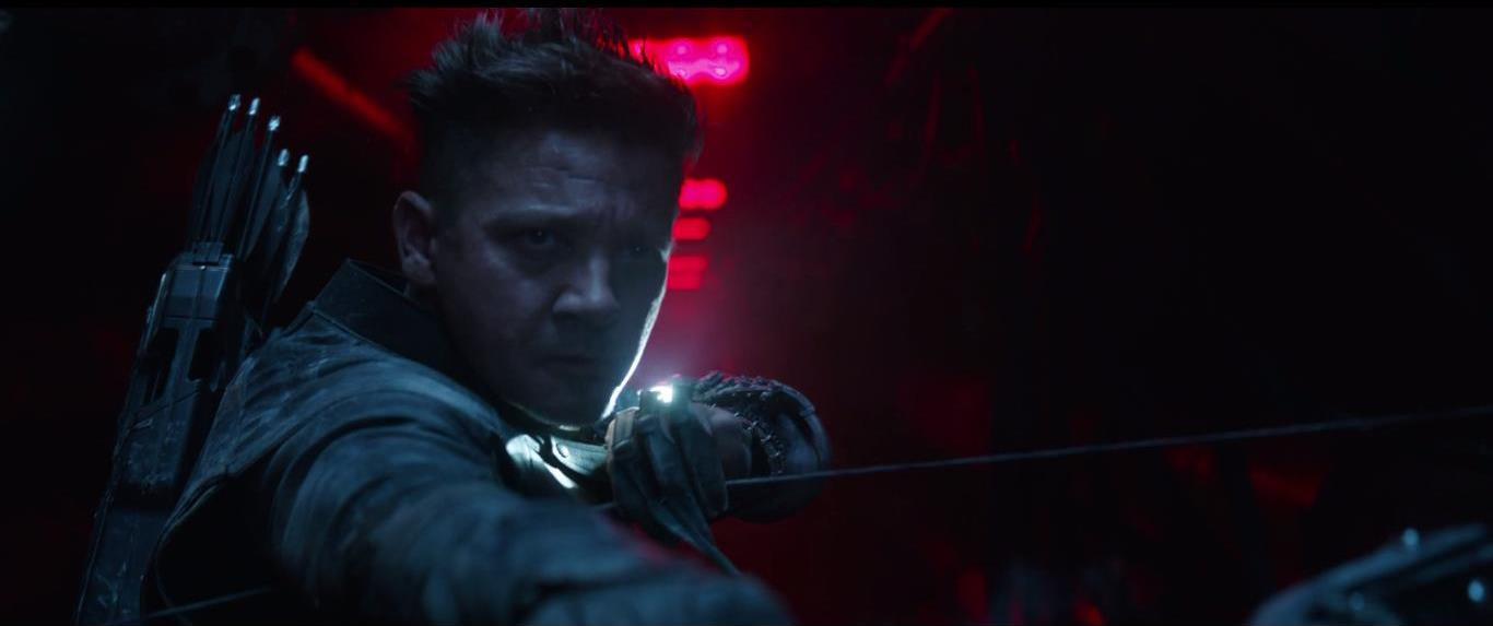 Avengers: Endgame, un primo piano di Jeremy Renner