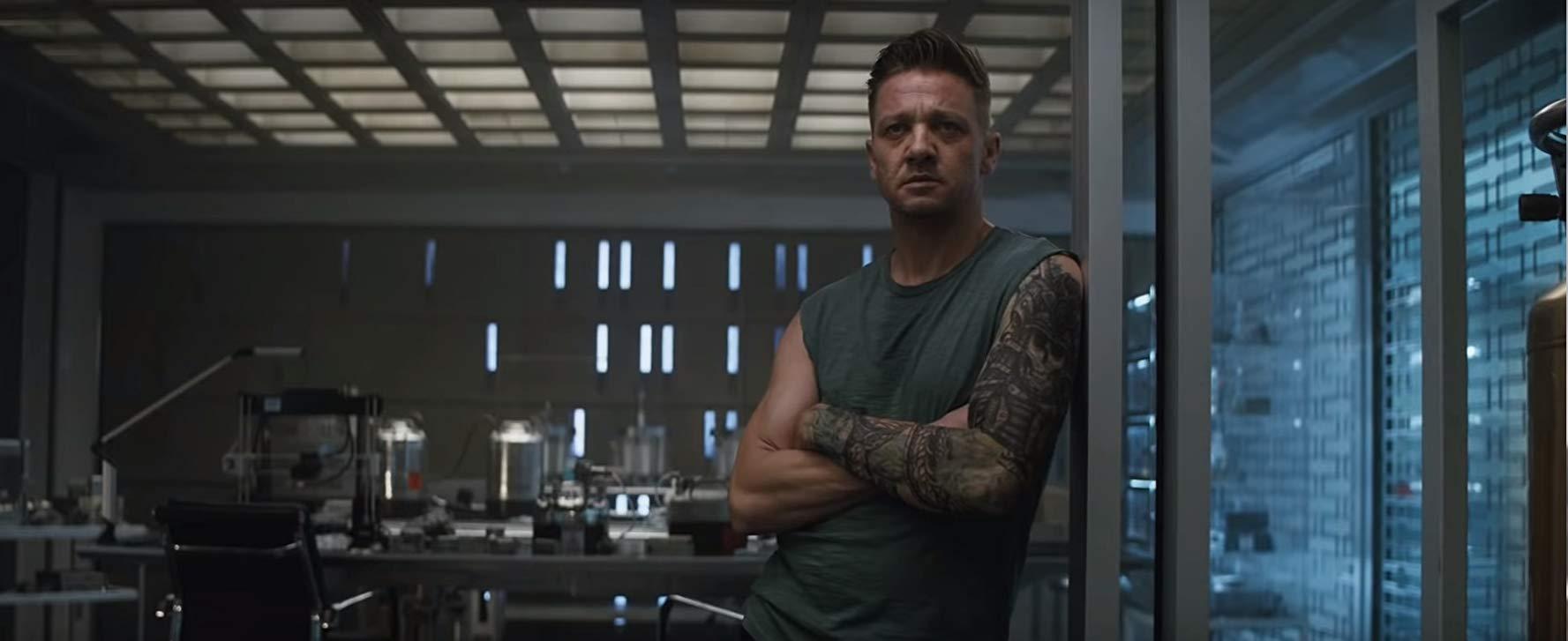 Avengers: Endgame, Jeremy Renner in un scena del film