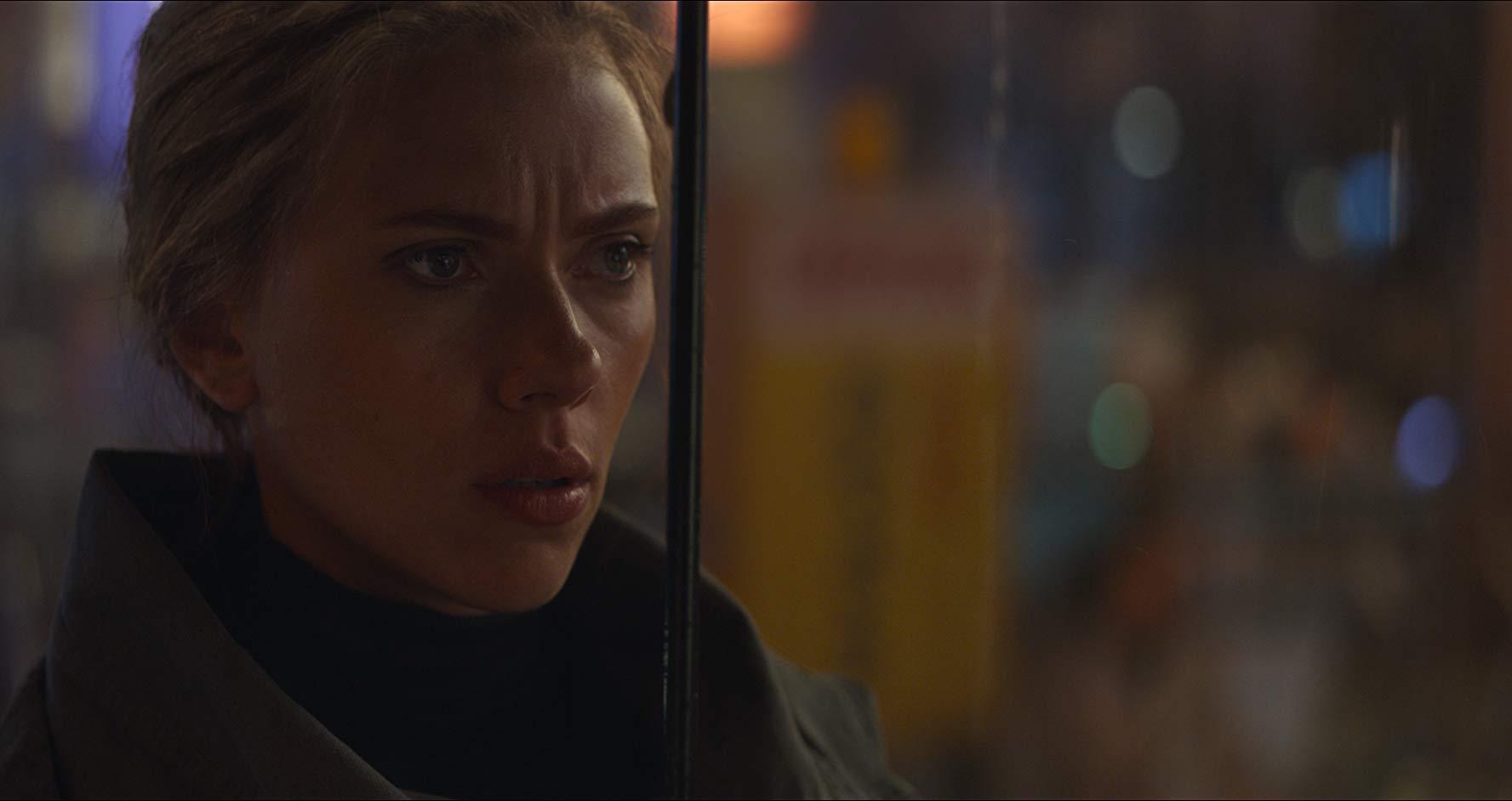 Avengers: Endgame, un primissimo piano di Scarlett Johansson