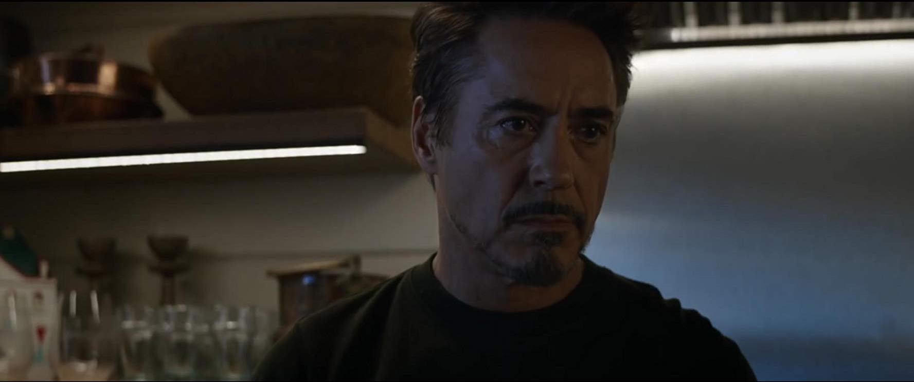 Avengers: Endgame, un primo piano di Robert Downey Jr.