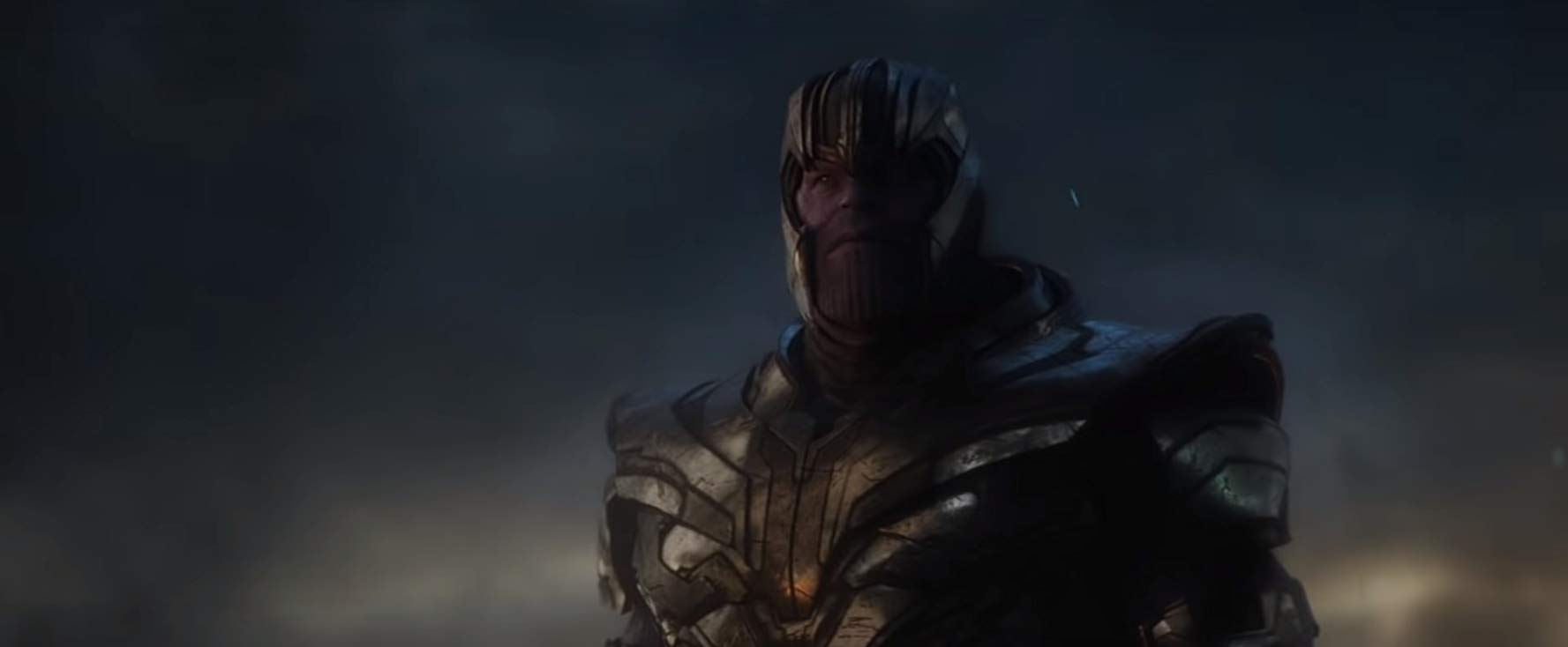 Avengers: Endgame, una scena con Thanos, alias Josh Brolin
