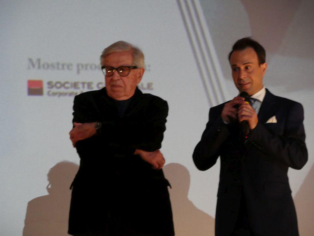 Paolo Taviani e il direttore del Lucca Film Festival ed Europa Cinema 2019 Nicola Borrelli