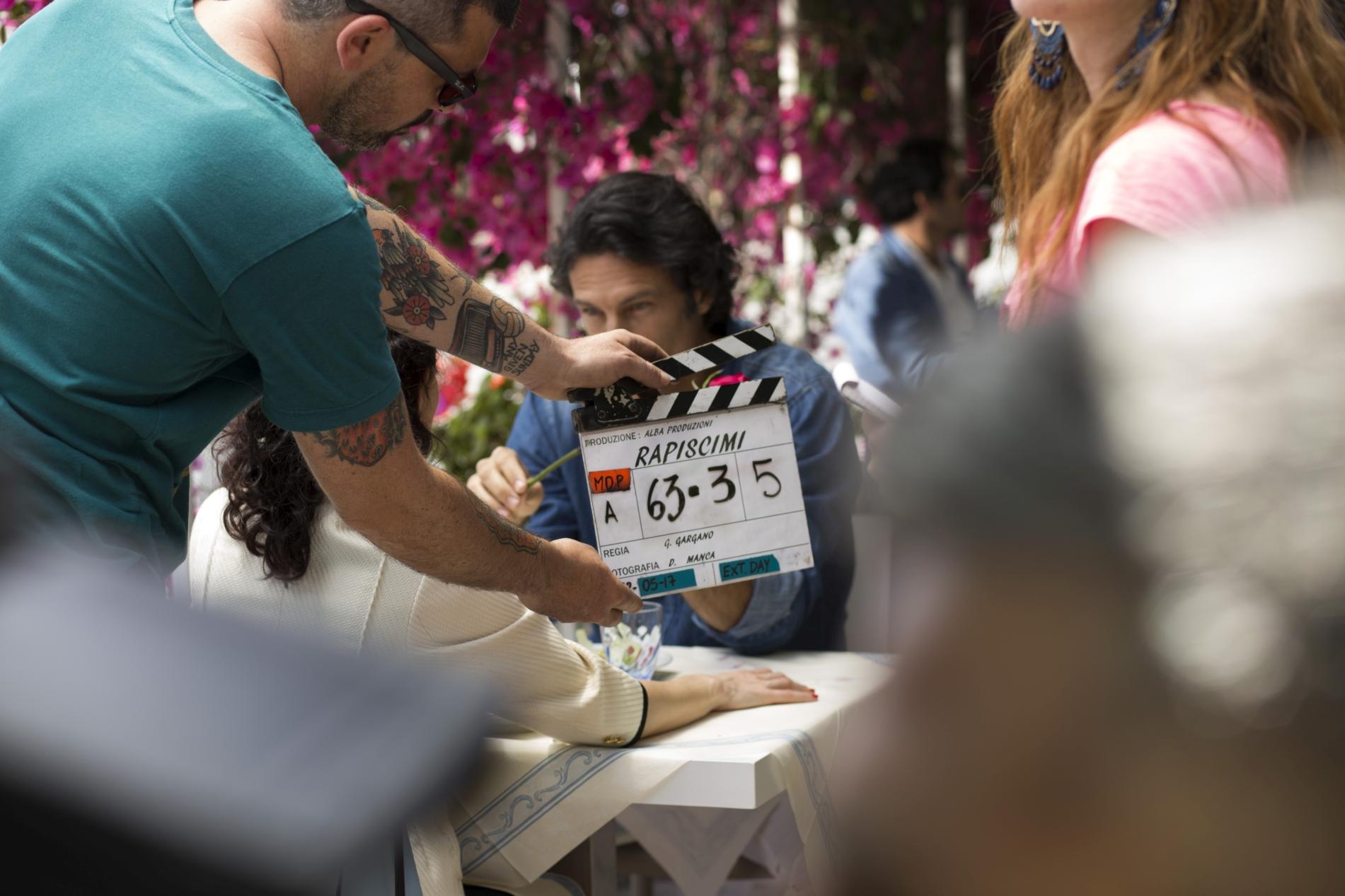 Rapiscimi: un momento sul set del film