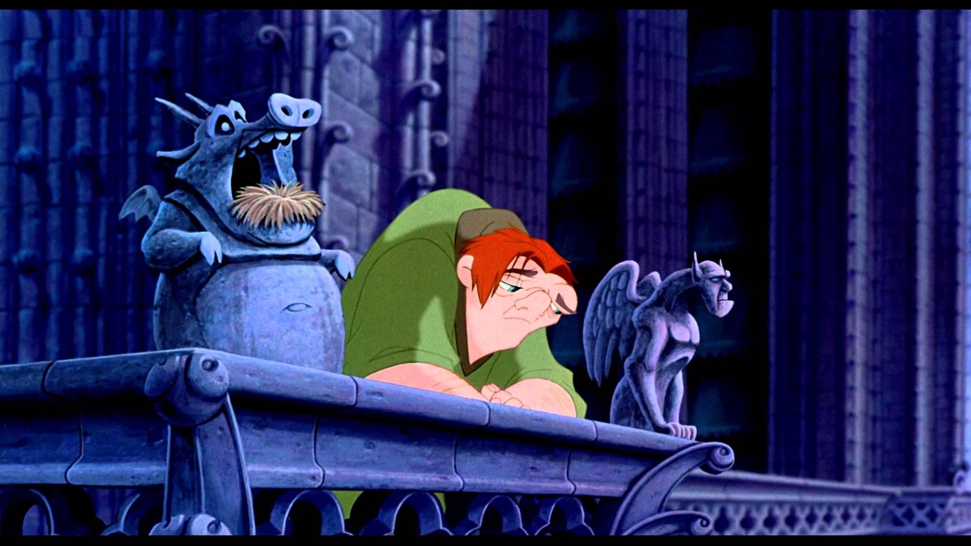 Il gobbo di Notre Dame, una scena del film d'animazione