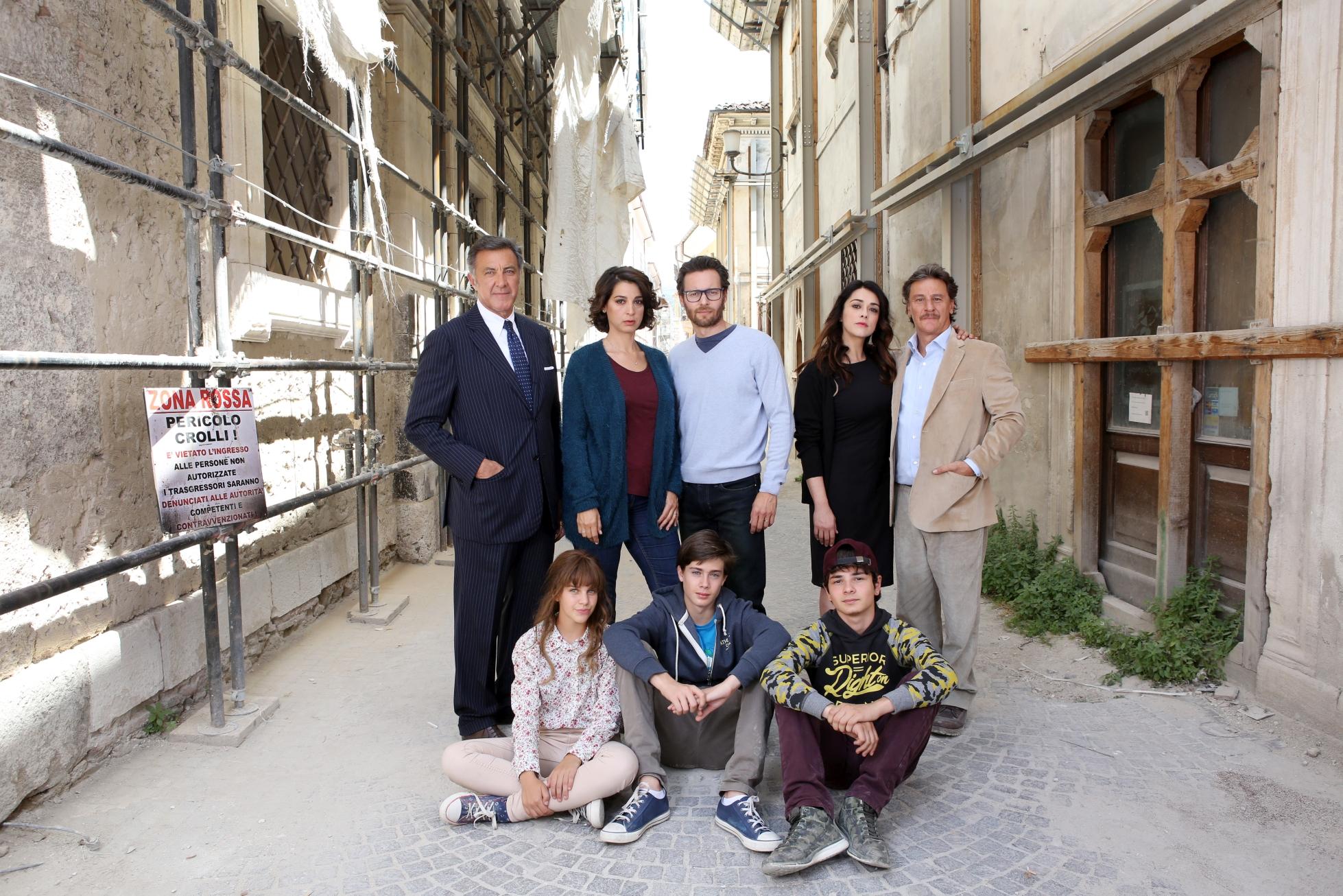 L'Aquila - Grandi Speranze: una foto promozionale per la fiction