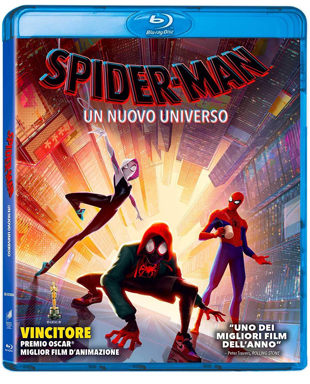 La cover del blu-ray di Spider-Man: Un nuovo universo