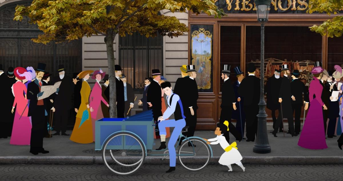 Dilili a Parigi: una scena del film animato