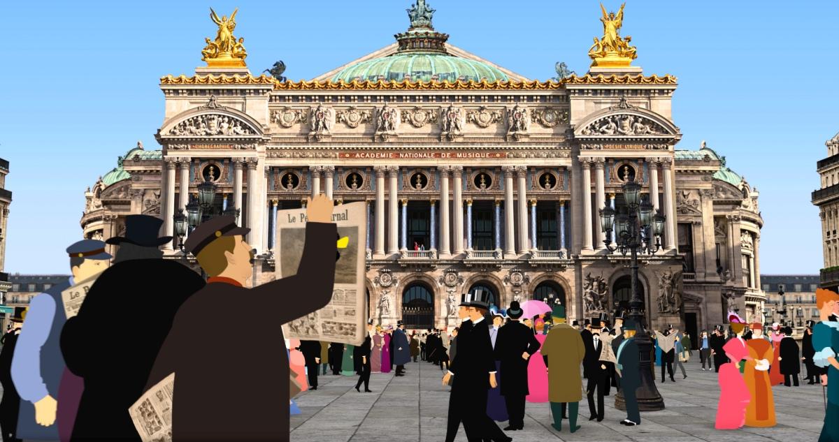 Dilili a Parigi: una scena del film