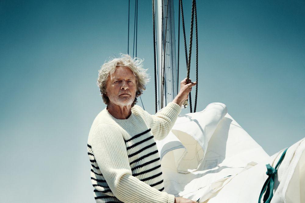Rutger Hauer in barca a vela