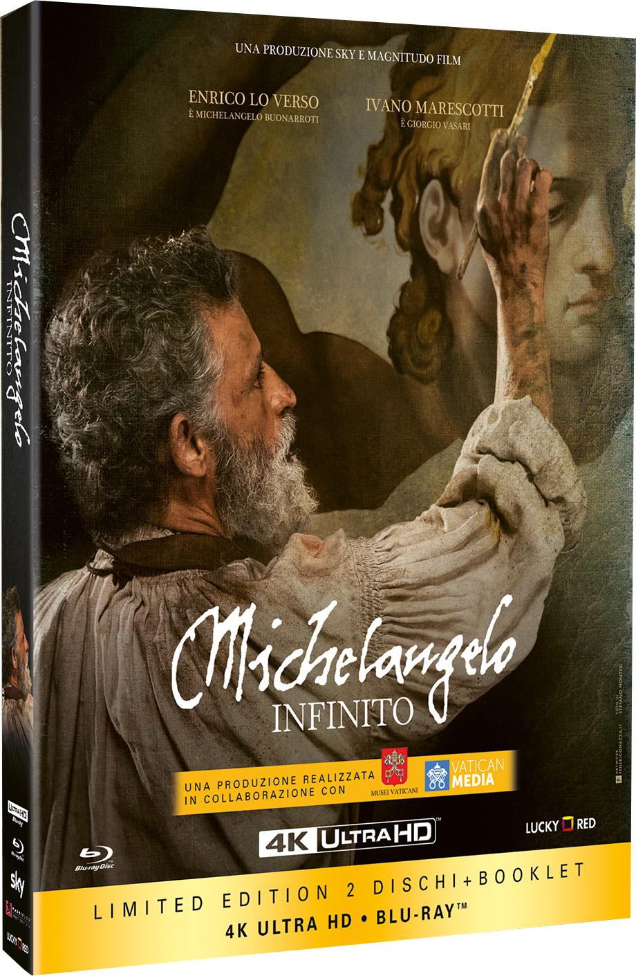 La cover della limited edition di Michelangelo - Infinito