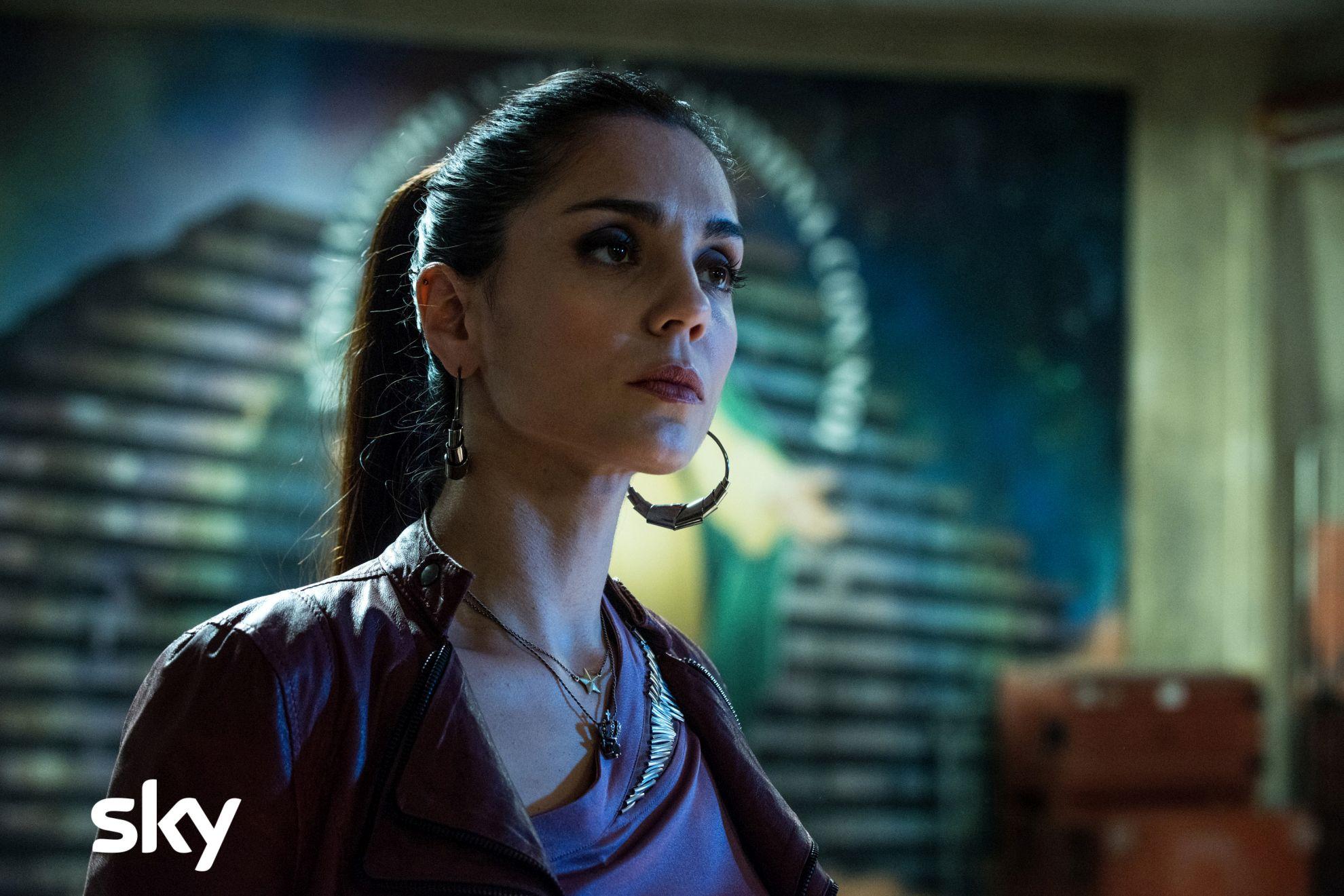Gomorra La Serie: un primo piano di Cristiana Dell'Anna nel nono episodio della quarta stagione