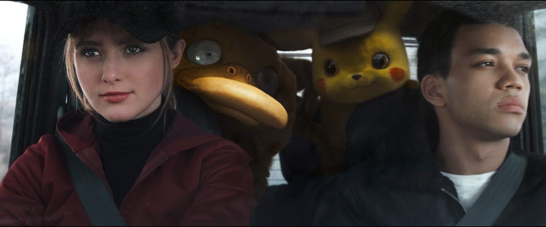 Detective Pikachu: Kathryn Newton, Justice Smith con i loro amici pokemon
