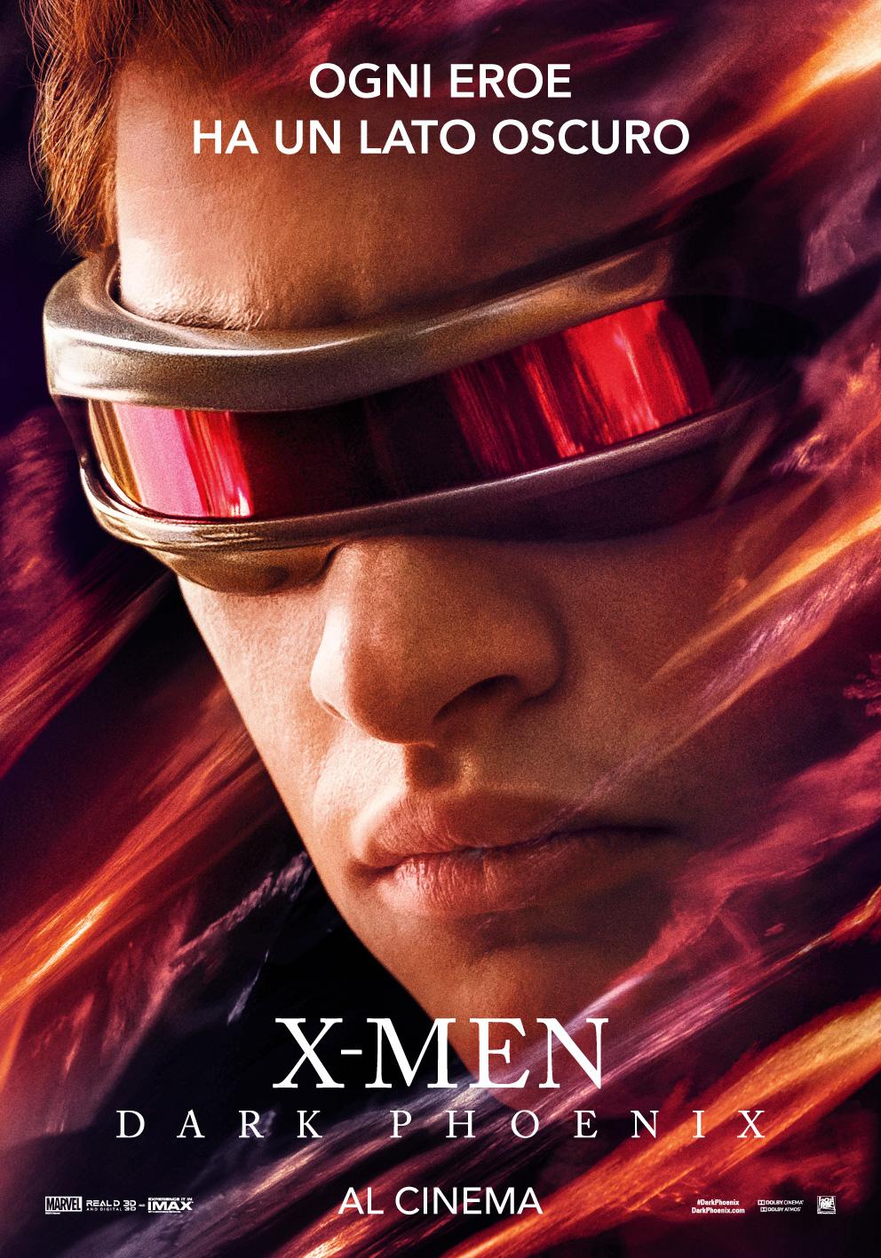 X-Men: Dark Phoenix, il character poster per Ciclope