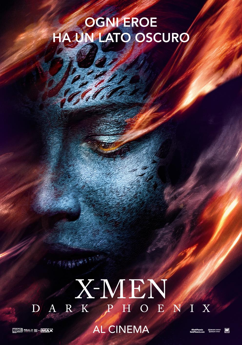 X-Men: Dark Phoenix, il character poster per Mistica