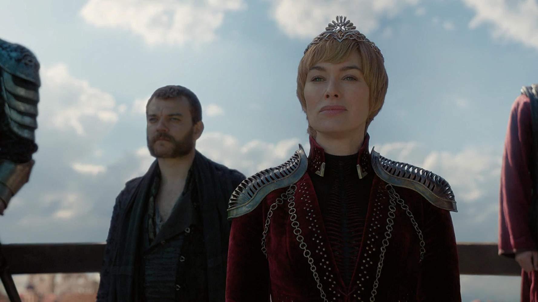 Il trono di spade: Lena Headey in una scena del quarto episodio, stagione 8