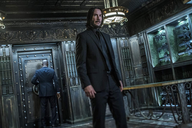 John Wick 3: Parabellum, Keanu Reeves durante una sequenza del film