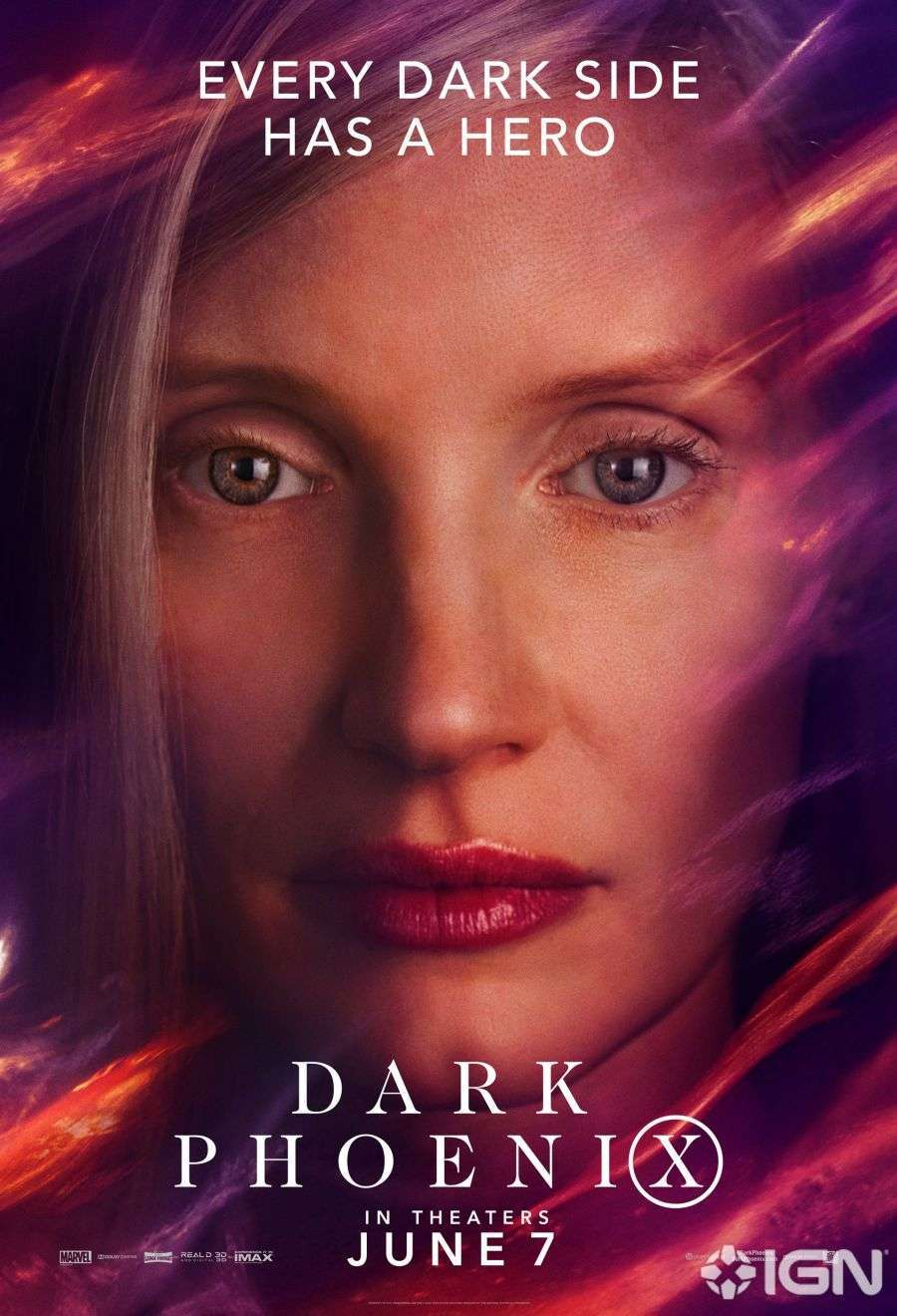 X-Men: Dark Phoenix, Jessica Chastain nel character poster