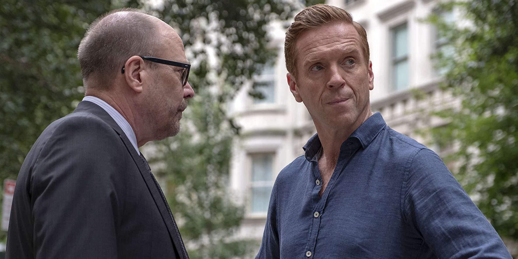 Billions: Damian Lewis e Paul Giamatti in una scena della quarta stagione