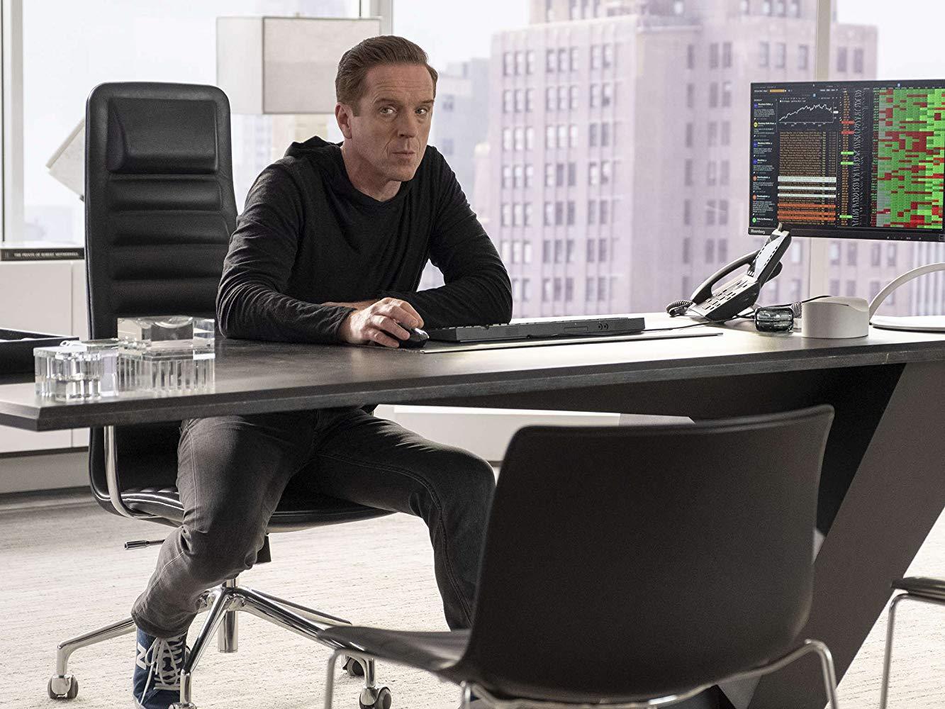 Billions: Damian Lewis durante una scena della quarta stagione