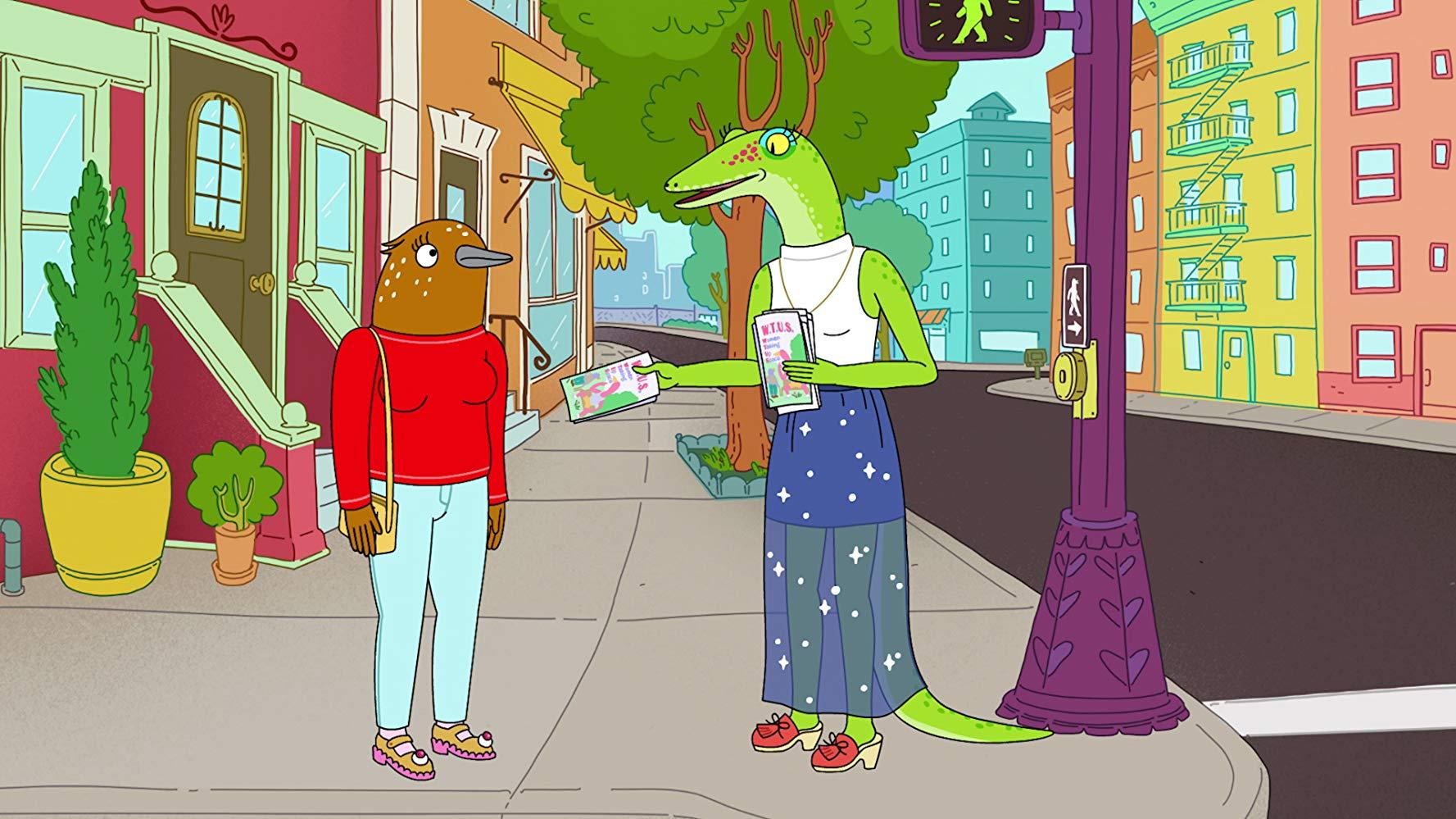 Tuca e Bertie: una sequenza della serie