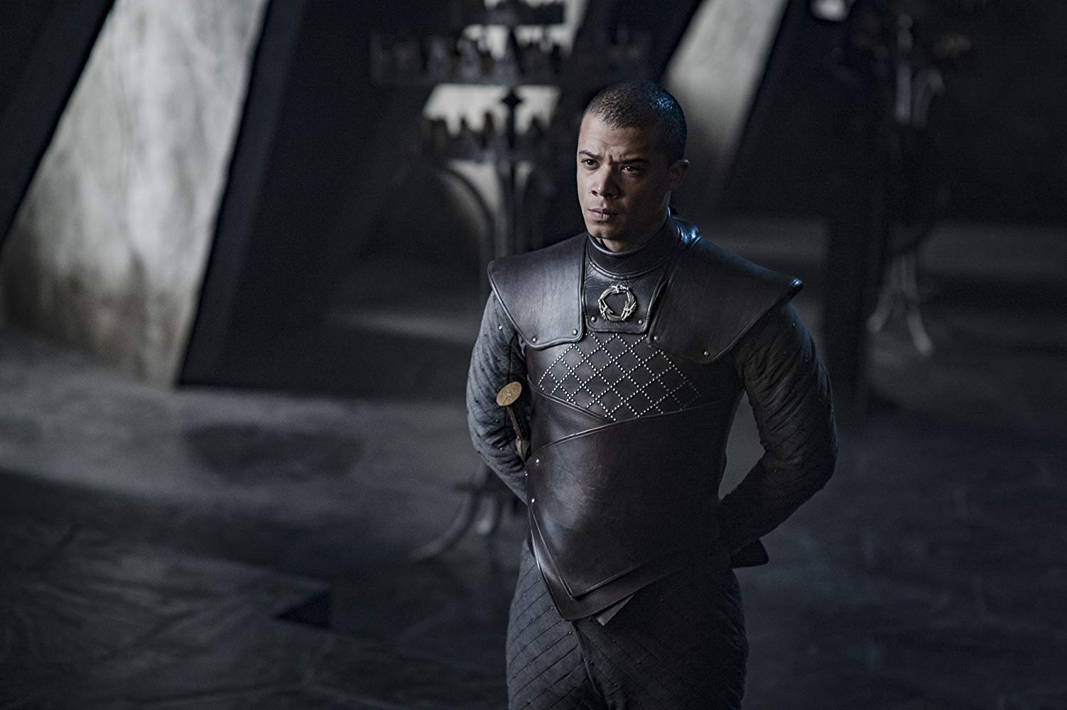 Il trono di spade: Jacob Anderson in una scena del penultimo episodio della serie