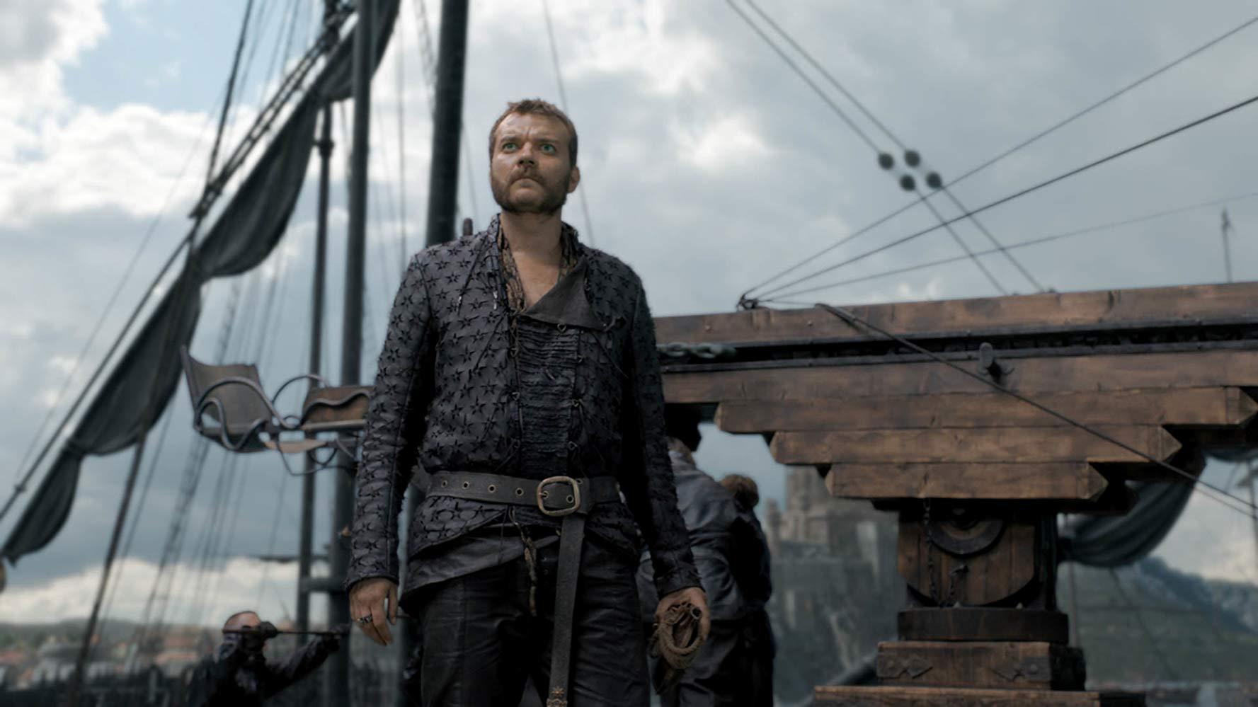 Il trono di spade: Pilou Asbæk in una scena del penultimo episodio della serie