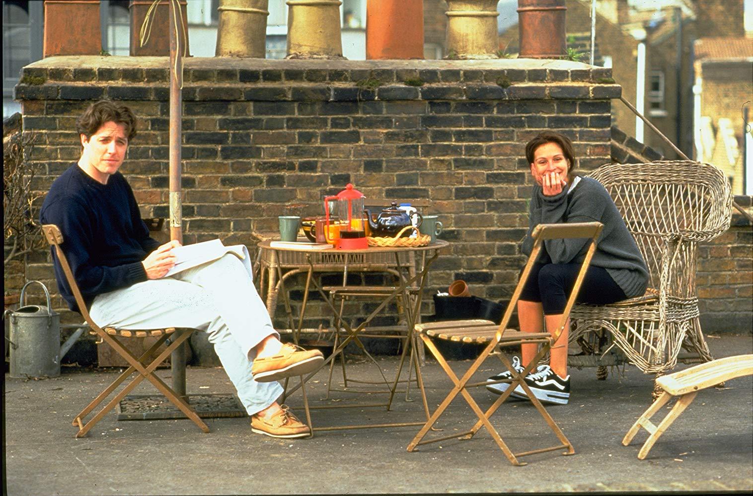 Notting Hill: una scena con Julia Roberts e Hugh Grant