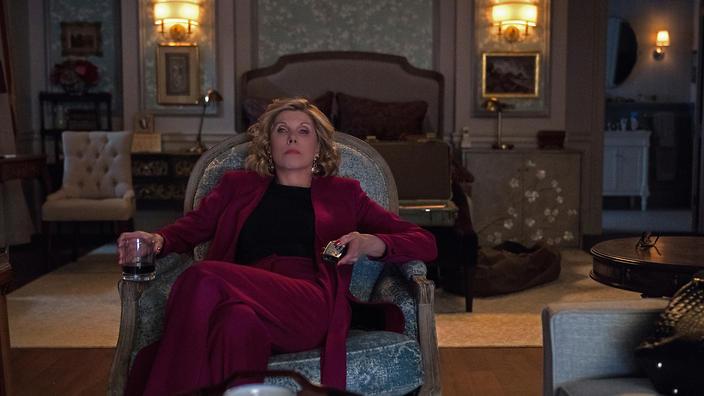 The Good Fight: Christine Baranksi durante una scena della terza stagione
