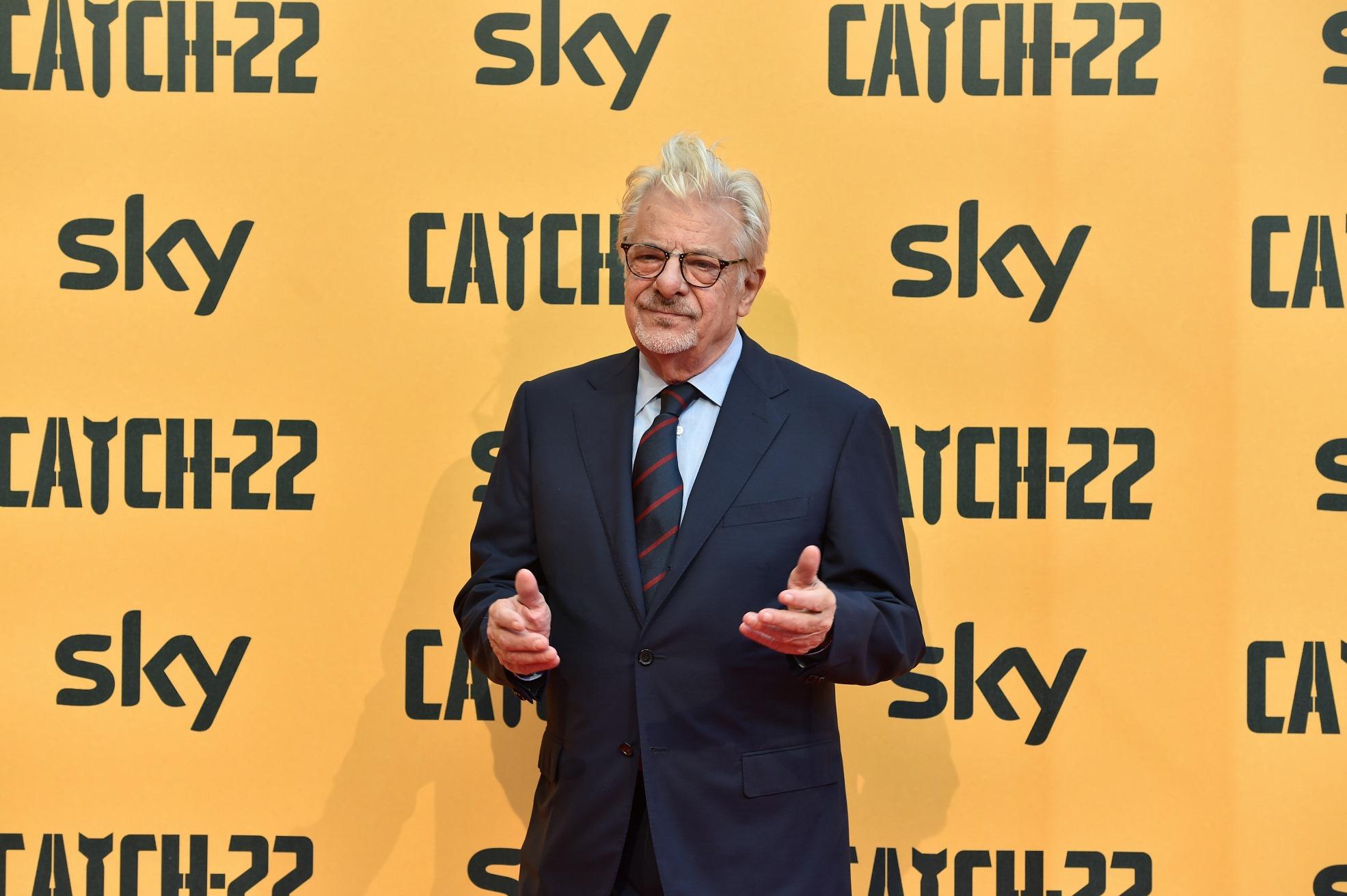 Catch-22: Giancarlo Giannini in una foto della premiere europea a Roma presso il The Space Cinema Moderno