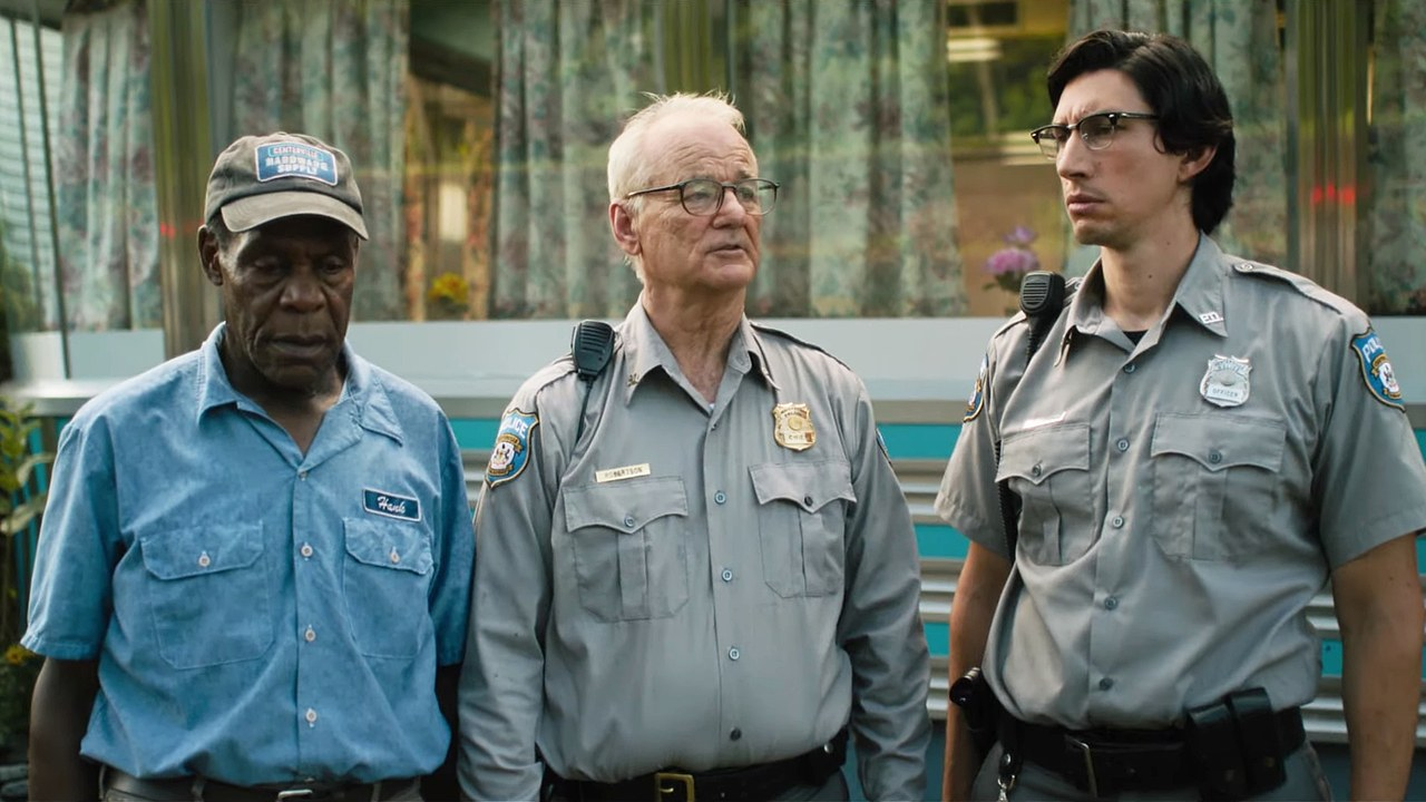 I morti non muoiono: Bill Murray, Danny Glover, Adam Driver in una scena