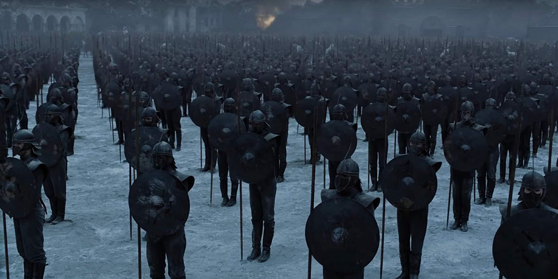 Il trono di spade: una scena del finale di serie