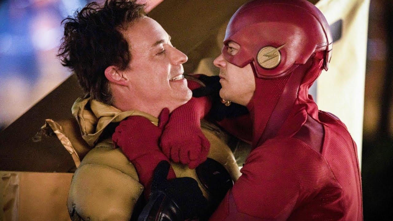 The Flash: Grant Gustin in una scena della quinta stagione