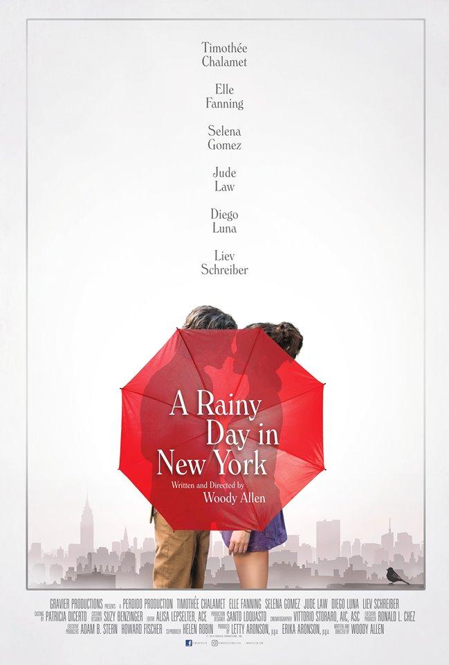 A Rainy Day in New York: il poster del film diretto da Woody Allen